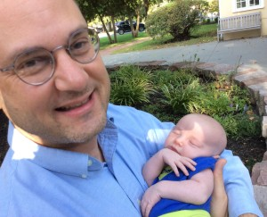 Rick Tony, our new Director of Studies (over a billion seconds old) and daughter Theodora at only 2.5 million seconds old.